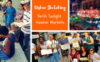 Urban Sketching : Perth Twilight Hawker Market